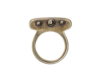 SAMPLE Porterness Studio Bronze Three Ball Ring