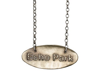 Porterness Studio Bronze - Echo Park  - Los Angeles - Pendent on Sterling Silver Chain