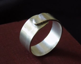 Sterling Silver Overlapping Band Ring Sz 7