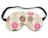 Pink Donut Sleep Eye Mask, Sleeping Mask, Travel Mask, Eye Mask, Sleep Mask