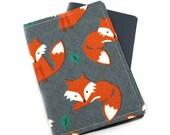 Orange Fox Passport Cover, Passport Holder, Passport Wallet, Passport Case, Travel Gift