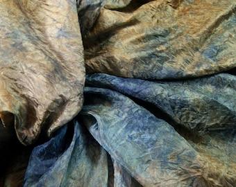 QUAIL in  Hand Dyed Habotai Silk  for Nuno Felting