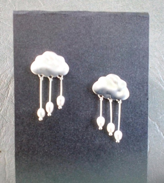 Cloudy with a Chance of Rain - Cloud Earrings