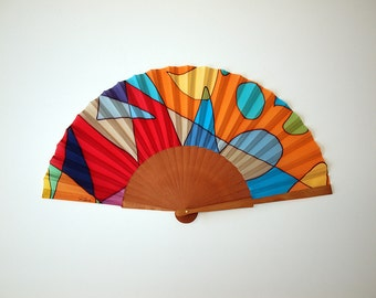 Hand fan Handpainted Silk-Spanish hand fan-Abanico-Wedding gift-Giveaways-Bridesmaids