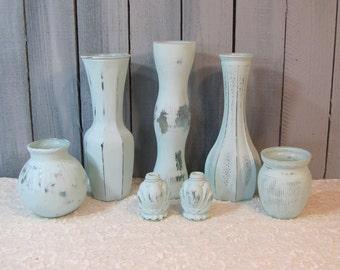 Shabby Vases Ocean Mist Wedding Tables Home Decor Beach clearance item
