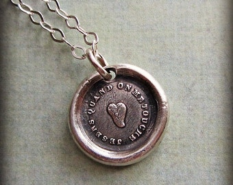 Tenderhearted - I Feel Every Touch - French Wax Seal Necklace - FP240