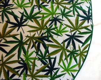 Price Reduced, Pot Leaf Christmas Tree Skirt, Marijuana Herb Tree Skirt, Marijuana Tree Skirt, Pot Christmas Tree Skirt, Handmade Tree Skirt