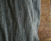 MERINO WOOL FABRIC / grey melange / new zealand  / australia / wool remnant