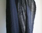ITALIAN WOOL GAUZE fabric / black / australia / wool remnant
