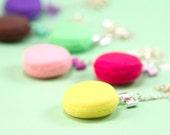 Macaron Necklace with Bow - Lemon - Yellow