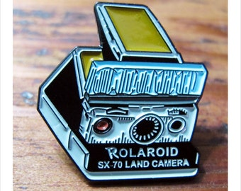 Boogie Nights - Rollergirl's Rolaroid Camera Enamel Pin by Print Mafia®