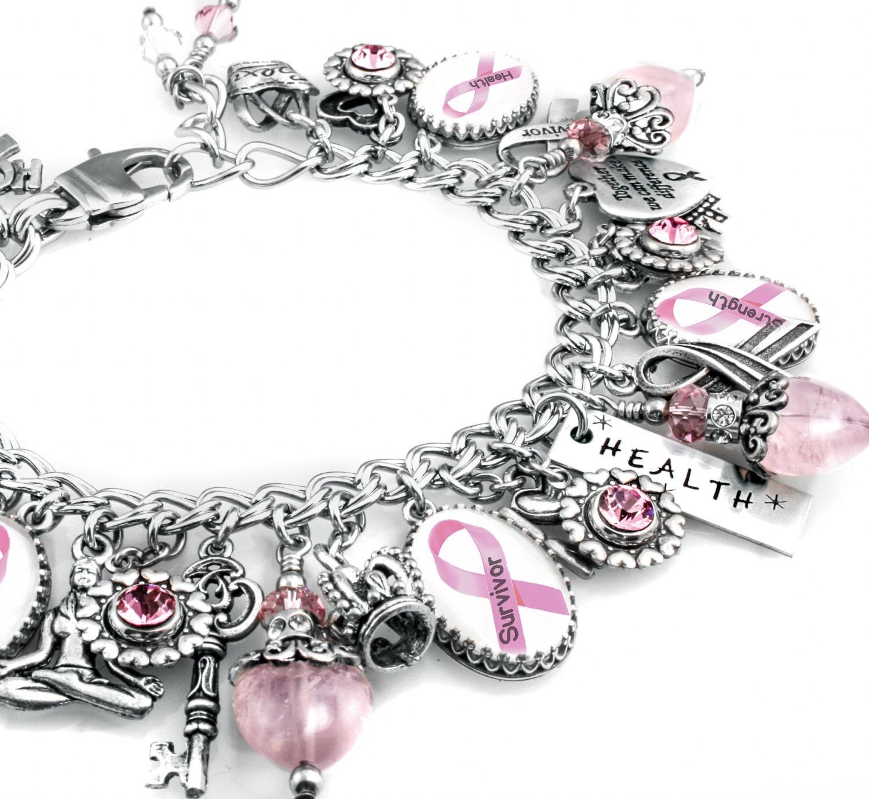 personalized cancer awareness charm bracelet custom cancer. Black Bedroom Furniture Sets. Home Design Ideas