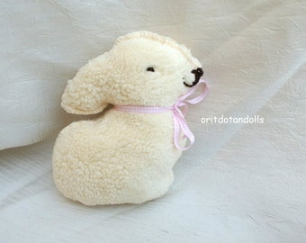 Bunny made of natural materials for baby and toddler