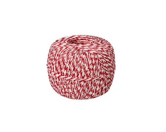 Red and White Bakers Twine Spool - Gift Wrap // Packaging // Scrapbooking - 500 yards
