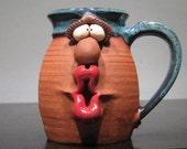 reserved for Antrim - Kissie .. Kissie  ..  Gimme a Kissie ... Girly Girl Kissie Mug ......