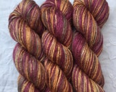 Hand Dyed Worsted weight Silk Yarn - Heather Moorland (5)