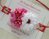 Valentine's day headband Pink Red  Hearts for babies girls newborn photo shoot holiday