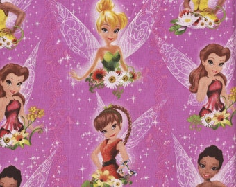 2010 Disney Fairies All Over Fabric, 34X44 Inches, Last Chance.