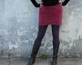 ORGANIC VELOUR Pencil Mini Skirt (organic cotton velour ) - organic dress