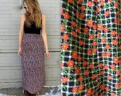 Country Wrap Skirt in Large // 90's Chic // Floral Pattern // Ankle Length // 90's Grunge Skirt // 1990's Floral Skirt
