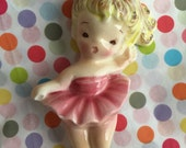 Vintage Lefton Ballerina.. Pink Wall plaque .. Baby Nursery.. Little Girls Room.. Collectibles..VERY Rare!!
