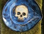 Skull Spoon Rest in Blue
