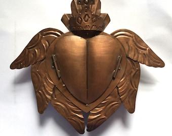 Tin Nicho #10 Corazon Corona and Wings  and  Doors