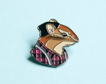 Enamel Pin - Chipmunk Gentleman - Ryan Berkley Illustration - Pin