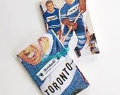 Toronto Hockey Notebooks Set of 2.  Avril Loreti Exclusive Prints. Fun, Bright, Bold prints. Great for Birthdays and Holidays.