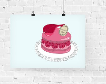 Laduree Decorative Foodie Illustration Art Print
