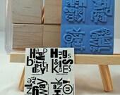Stampin Up - 'Alphabet Soup - stamp set