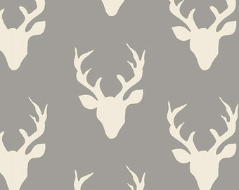 Buck Forest Mist from the Hello Bear collection by Bonnie Christine for Art Gallery Fabrics HBR-4434