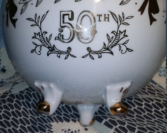 50th Anniversary fine chine made by Lefton China