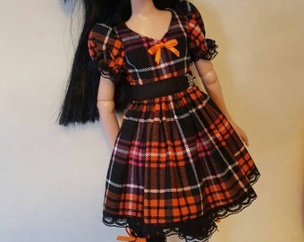 OOAK AUTUMN PLAID Dress set for Tonner Maudlynne Macabre