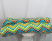 SALE - Chevron Rainbow Fleece Fabric per 1 yard - use for ponchos, scarves, mittens or blankets