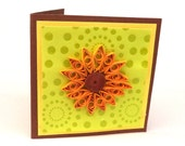 Clearance Sunflower Note Cards, Blank Mini Cards, Quilled Sunflower Cards, Note Cards, Set of 3 with Envelopes, Mini Greeting Card