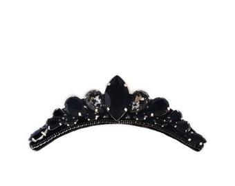 Gothic Crown Gothic Tiara Black Tiara wedding Tiara Black Crown gothic hair accessories Hair comb Headpiece