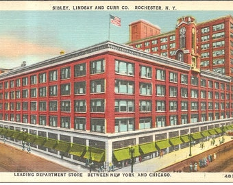 Sibley, Linsay and Curr Co, Rochester, NY  Vintage 20's -40's Linen Postcard