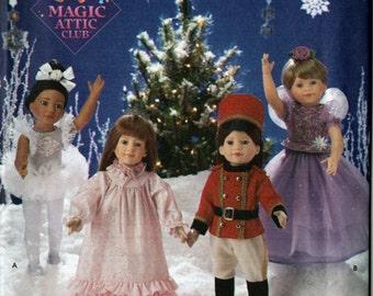 "Vintage 1990s OOP Magic Attic Club 18"" Doll Nutcracker Ballet Costume Sewing Pattern Fits American Girl & Similar Size Dolls UNCUT"