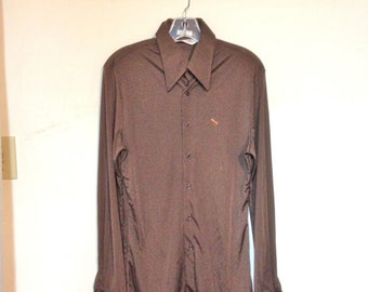 Nik Nik Shirt Men's Vintage 70s Shirt Disco Era Rare Nik Nik Size M