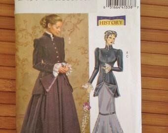Butterick Pattern B4954 Edwardian Size 8 10 12 14 BB downton abbey dress *