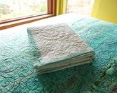 Baby Quilt White Crib Quilt Modern Baby Quilt Crib Bedding Wall Art White Spirals Baby Shower Gift White Baby Quilt Christening Gift