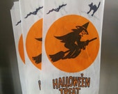 Reserved for K. - 15 Vintage 70s Paper Halloween Treat Bags Loot Candy Goody Bags Witch Cat Envelopes