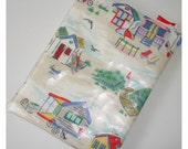 Cath Kidston Beach Huts Kindle Touch Case Cover Pouch Sleeve Designer PVC Oilcloth Fabric Fire 6 HD Paperwhite Nook Simple Zipped Zippered