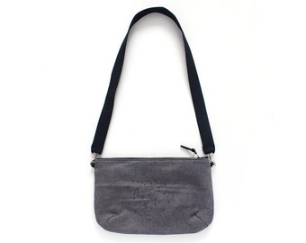 Grey denim crossbody Bag