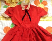 RESERVED FOR CANDY 50s Suzy Brooks Dress Girls 10/12