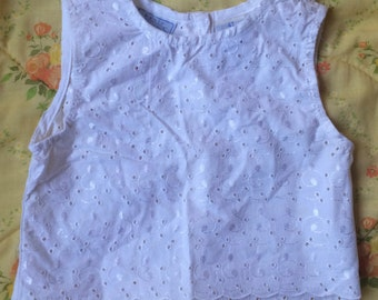 Eyelet Lace Top 3/4T