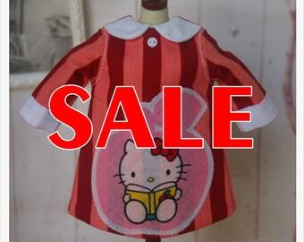 SALE~~LADYBIRD HOUSE Blythe Outfit Hello Kitty Dress