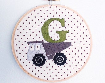 Embroidered G Monogram