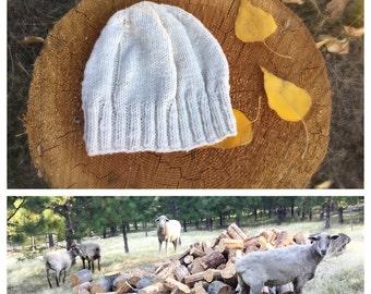 Boyfriend Beanie Hat Hand Knitted Organic Yarn